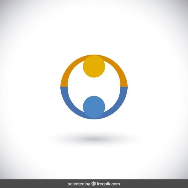 オレンジとブルーの慈善のロゴ