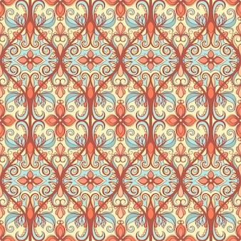 オレンジとブルーのパターン