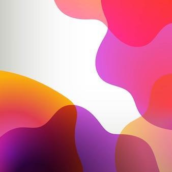 ポスター付きオレンジとライラックの抽象