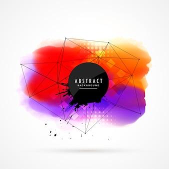 Абстрактный красочный дизайн фона акварель