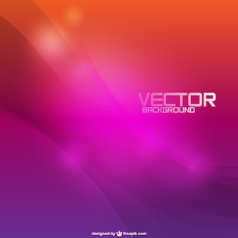 Orange and purple bokeh background with waves