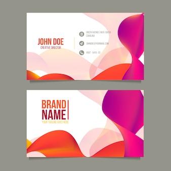 Оранжевый и фиолетовый шаблон визитной карточки