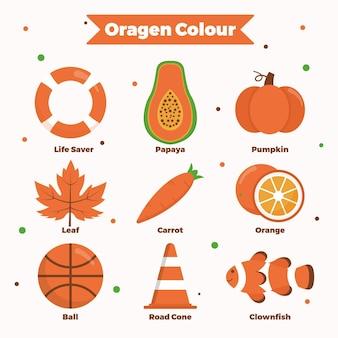 오렌지와 어휘 단어 팩