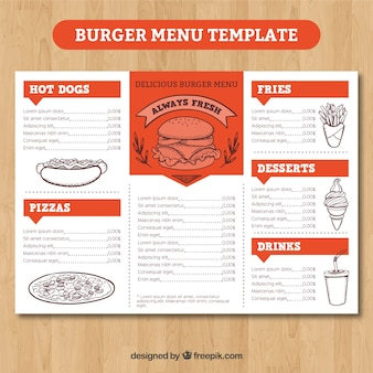 chalk lettering snack logo vectors photos and psd files free 20804 | orange and white burger menu template 23 2147638679