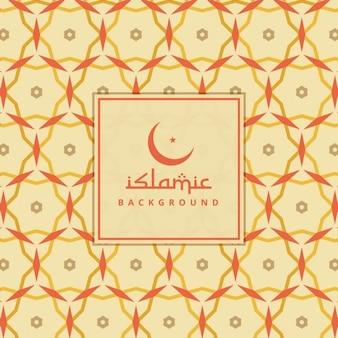 カラフルなパターンを持つイスラム背景