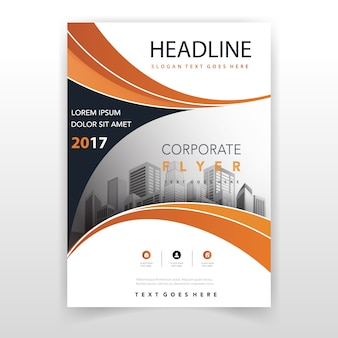 Orange annual report template