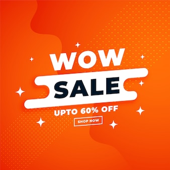 Orange attractive sale banner for online shopping