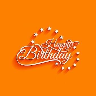 Orange background for birthday