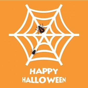 Orange background of cobweb