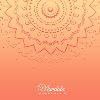 Orange background with mandala design