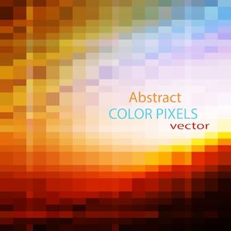 Оранжевый фон с пиксельным дизайном