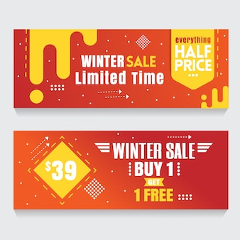 Orange banner background abstract flash sale