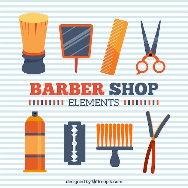 Оранжевые элементы парикмахерская