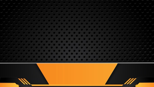 Orange and black abstract business background
