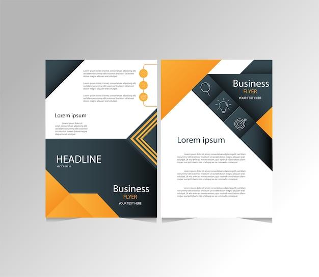 Orange and black modern business flyer