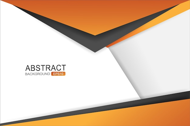 Orange and black triangle vector background overlap layer