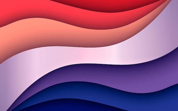 Orange and blue dimension layers background