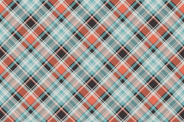 오렌지 블루 패브릭 질감 원활한 패턴