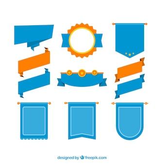 Orange e nastri blu set