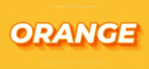 Оранжевый жирный шрифт в стиле 3d-текста