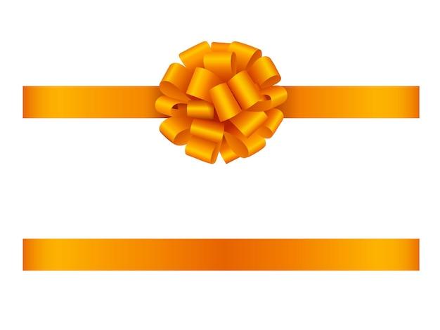 Оранжевый бант и лента