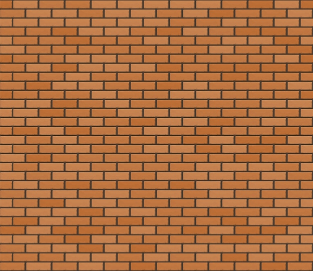 Orange brown realistic brickwall. seamless texture.
