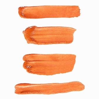 Оранжевый мазок кисти