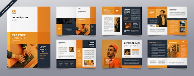 Orange business brochure pages template