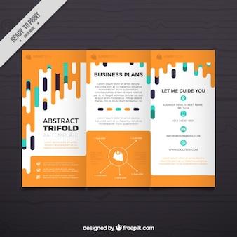 オレンジビジネスパンフレットのテンプレート