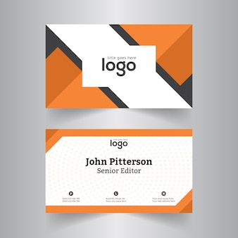 Orange Business Card for Office
