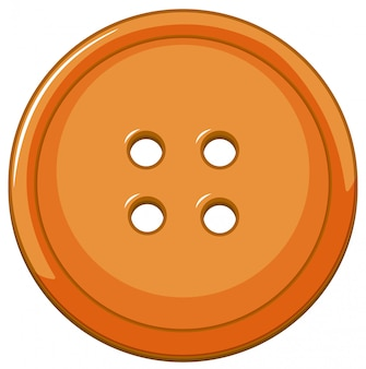 Orange button isolated