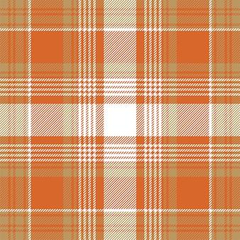 Orange check plaid seamless pattern..