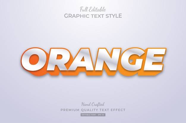 Orange clean editable text style effect