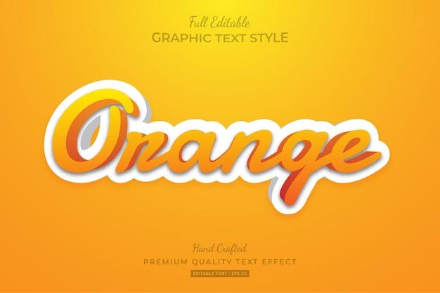 Orange clean modern editable text effect font style