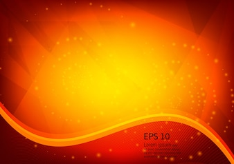 Orange color and light geometric gradient texture abstract