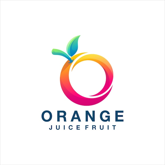 Orange color gradient logo design