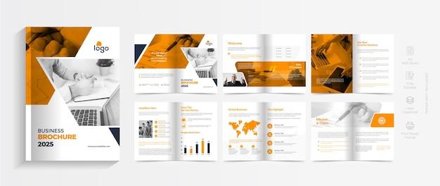Шаблон брошюры компании оранжевого цвета