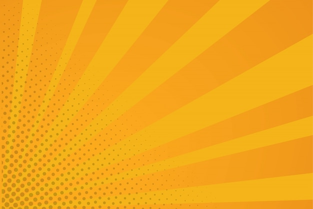 Orange comic background
