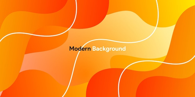Orange curve background with gradient and line background