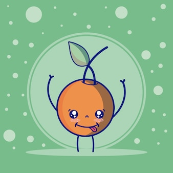 Orange cute fruits cartoons