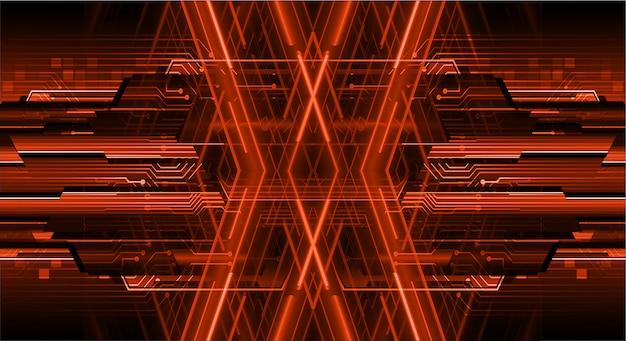 Orange cyber circuit future technology concept background