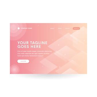 Orange diamond gradient modern website header