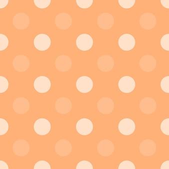 オレンジ色のドットハーフドロップ繰り返しシームレスパターンシンプルなモノクロ背景