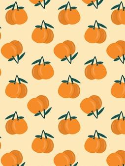 Orange drawn pattern