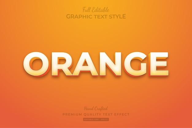 Orange editable custom text style effect premium
