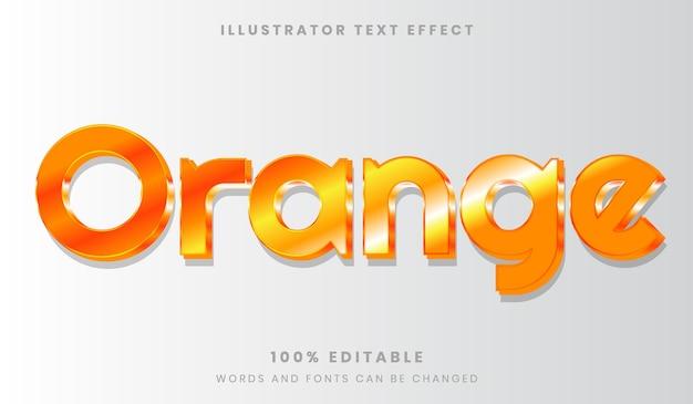 오렌지 편집 가능한 텍스트 효과 반짝 빛나는 글꼴 스타일