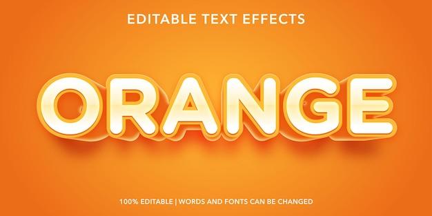 オレンジ色の編集可能なテキスト効果
