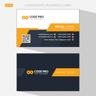 Orange elegant corporate card - Abstract business card