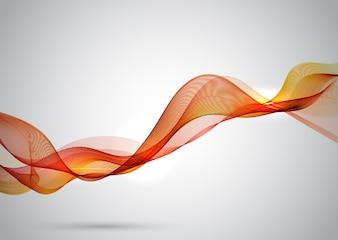 Orange elegant wave lines