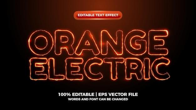 オレンジ色のelictricwave編集可能なテキスト効果